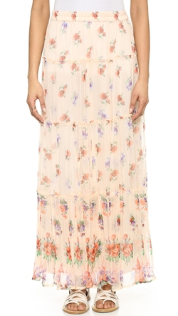 Lily Tiered Maxi Skirt by Love Sam in Scream Queens