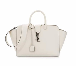Downtown Cabas Small Satchel Bag by Saint Laurent in Empire