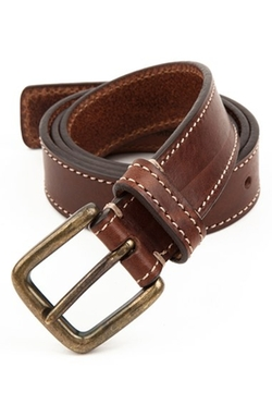 'Connor' Leather Belt by Trafalgar in My All American