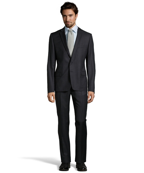Pinstripe Two-Piece Wool Suit by Versace in The Transporter