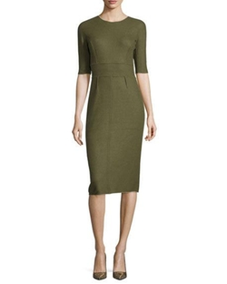 Reversible Cashmere Half-Sleeve Dress by Lela Rose in Suits