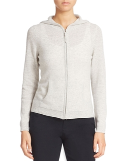 Cashmere Zip-Front Hoodie by Lord & Taylor in The Martian