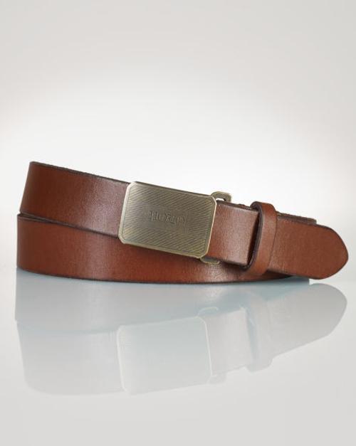 Buckle Leather Belt by Ralph Lauren in Neighbors