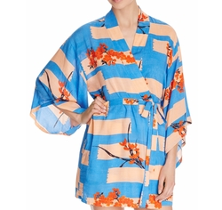 Brushed Flower Happi Printed Robe by Josie in How To Get Away With Murder