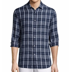 Tailored Plaid Long-Sleeve Shirt by Michael Kors in Animal Kingdom