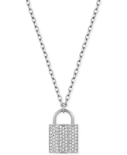 Stainless Steel Padlock Pendant Necklace by Swarovski in Sleeping with Other People