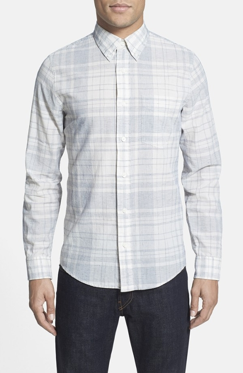 Trim Fit Plaid Poplin Sport Shirt by Jack Spade in Fantastic Four