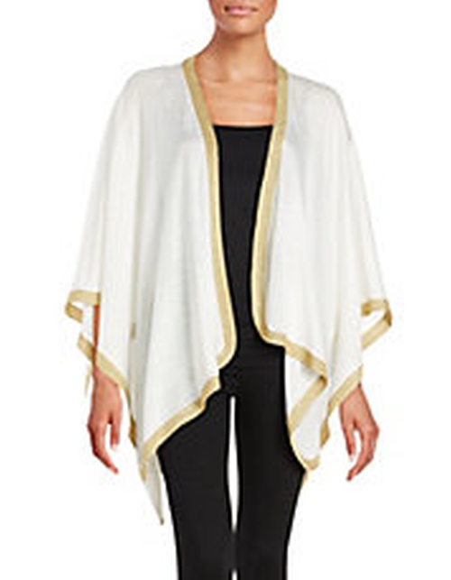 Linen and Cotton Poncho by Eileen Fisher in The Boss