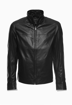 Ernest Lightweight Lamb Leather Bomber Jacket by Danier in Arrow