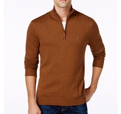 Solid Quarter-Zip Sweater by Tommy Hilfiger in Free Fire