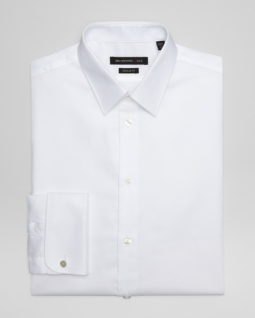 Solid Cotton Dress Shirt by John Varvatos Star USA in Chi-Raq
