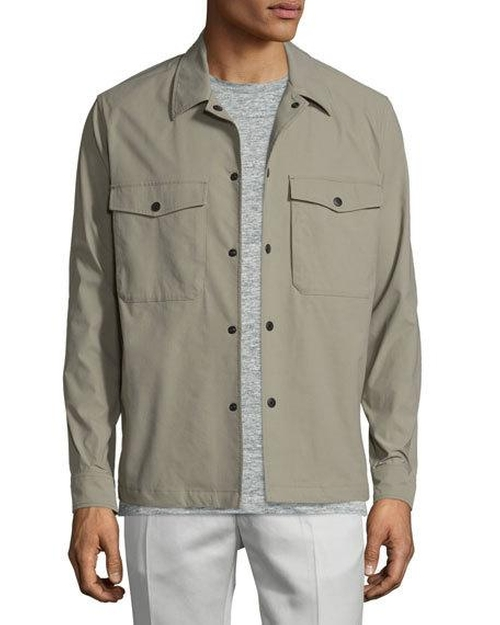 Drato Button-Front Shirt Jacket by Theory in Lethal Weapon - Season 1 Episode 10