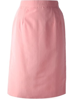 High Waisted Pencil Skirt by Lanvin Vintage in Scream Queens