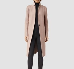 Nehru Coat by AllSaints in Guilt