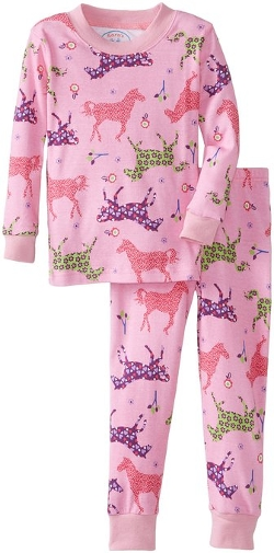Little Girls' Long John Pajamas by Sara's Prints in Southpaw