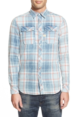 'Landoh Heapcheck' Washed Plaid Shirt by G-Star Raw in Modern Family