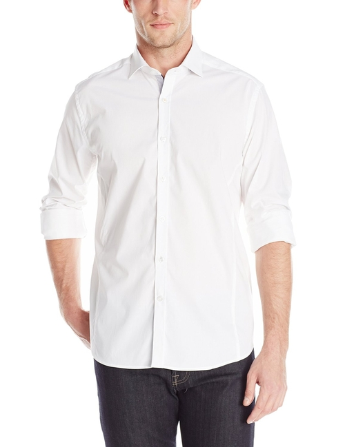 Solid Stretch Dress Shirt by Stone Rose in Bridge of Spies