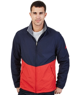 Colorblocked Reversible Jacket by Nautica in The Big Bang Theory