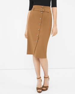 Button-Front Pencil Skirt by White House Black Market in Mistresses