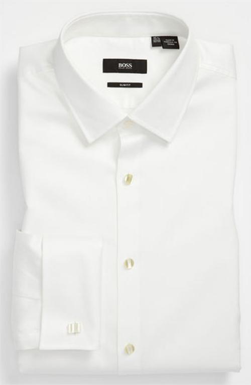 'Jameson' Slim Fit Tuxedo Shirt by Boss Hugo Boss in Fight Club