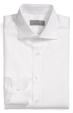 Regular Fit Dobby Dress Shirt by Canali in Yves Saint Laurent