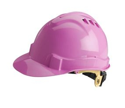 Women's Ratchet Vented Pink Hard Hat by Charm and Hammer in Suicide Squad
