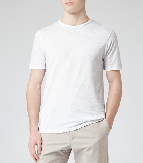 RAW EDGE CREW-NECK T-SHIRT  WHITE by IMPERIAL in The Fault In Our Stars