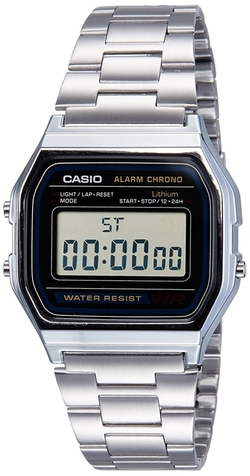 Men's A158W-1 Stainless Steel Digital Watch by Casio in Jurassic World