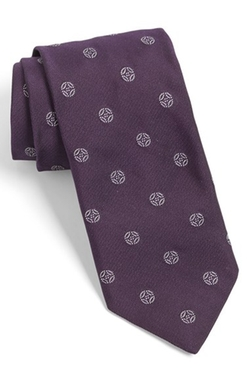 White Label Medallion Silk Tie by Todd Snyder in Pretty Little Liars