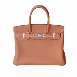 Birkin 'Gold' Togo Leather Bag by Hermes in Unbreakable Kimmy Schmidt
