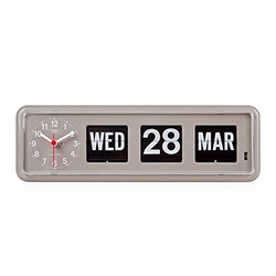 Retro Modern German Quartz Calendar Wall Flip Clock by Twemco in Master of None