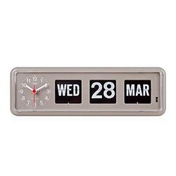 Retro Modern German Quartz Calendar Wall Flip Clock by Twemco in Master of None