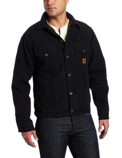Sherpa Lined Sandstone Jean Jacket by Carhartt in Straight Outta Compton