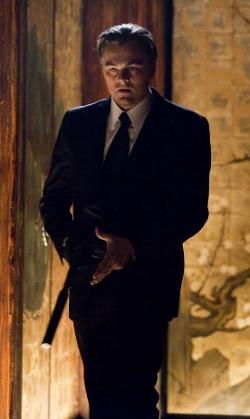 Custom Made Black Wool Suit by Jeffrey Kurland (Costume Designer) and Dennis Kim (Tailor) in Inception