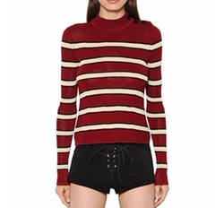 Striped Knit Mock Neck Jumper by Isabel Marant Étoile in Pitch Perfect 3
