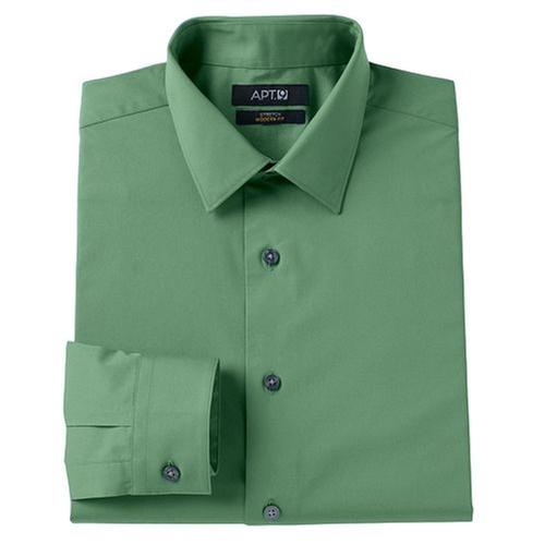 Stretch Spread-Collar Dress Shirt by Apt. 9 in The A-Team