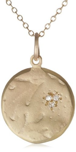 """Quinn's Tulip"" 10k Yellow Gold and Diamond Necklace by Page Sargisson in Blackhat"