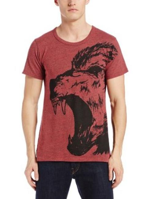 Men's Mascot Over Printed Tri Blend Tee by Black Hearts Brigade in Brick Mansions