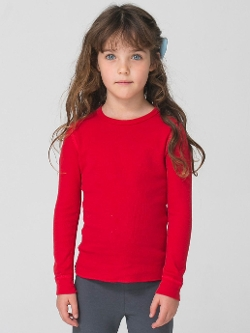 Thermal Long Sleeve T-Shirt by American Apparel in Poltergeist