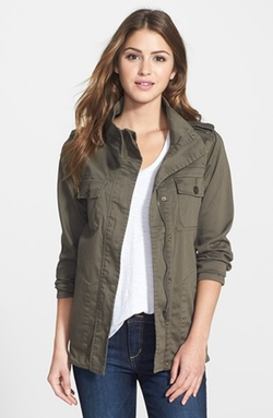 Two-Pocket Stretch Cotton Military Jacket by Press in Pretty Little Liars