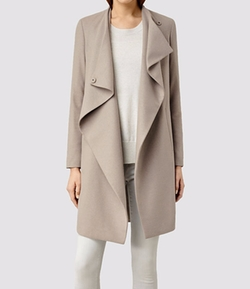Front Drape Ora Coat by All Saints in Notorious