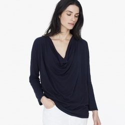 Crepe Jersey Drape Top by James Perse in The Second Best Exotic Marigold Hotel