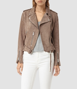 Plait Balfern Leather Biker Jacket by AllSaints in Modern Family