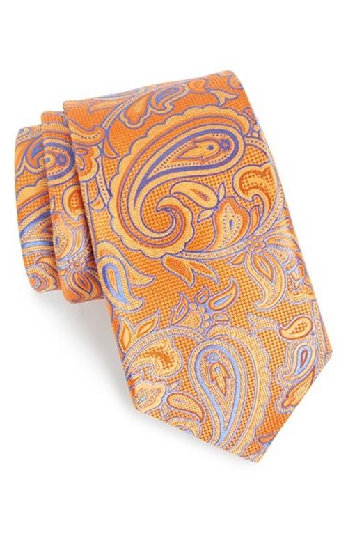'Generous' Paisley Silk Tie by Nordstrom in Inherent Vice
