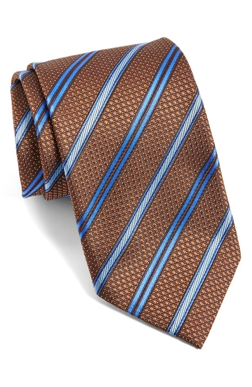 Stripe Silk Tie by Canali in The Good Wife - Season 7 Episode 8