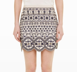 Turlough Embellished Skirt by Club Monaco in The Flash