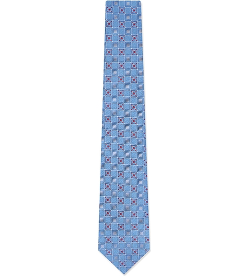 Geometric Print Tie by Brioni in The Good Wife - Season 7 Episode 7
