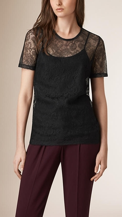 French Lace T-Shirt by Burberry in The Women