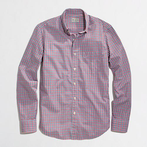 FACTORY WASHED SHIRT IN RED TATTERSALL by J.Crew in Transcendence