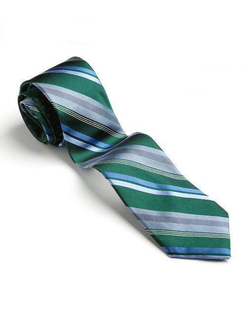 Classic Fit Gifford Silk Striped Tie by Perry Ellis in Anchorman 2: The Legend Continues